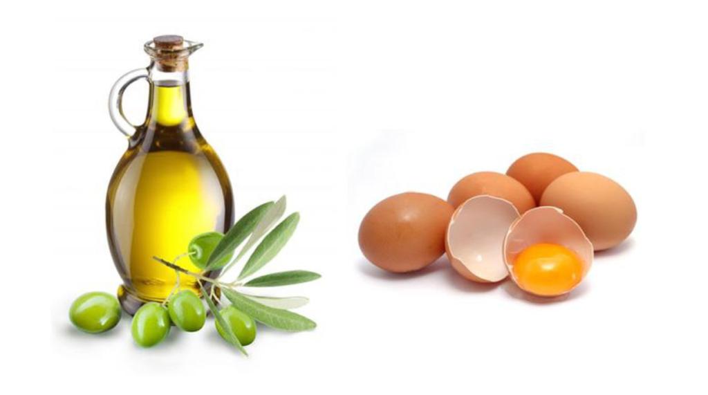ủ tóc bằng dầu ô liu trứng gà