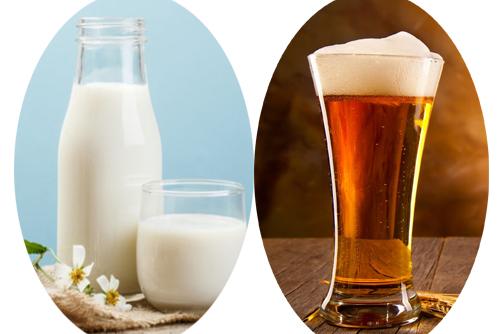 gội đầu bằng bia sữa tươi
