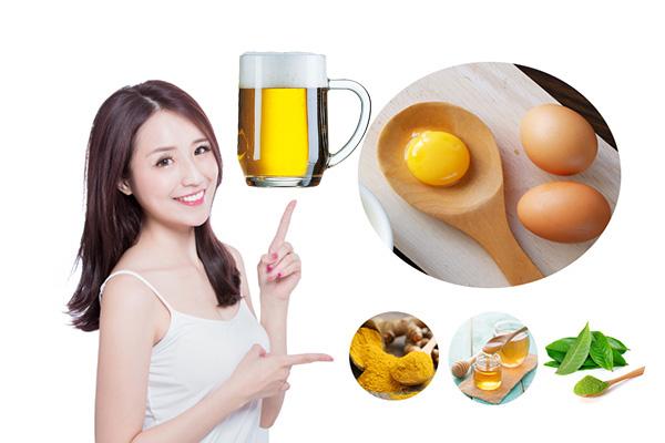 gội đầu bằng bia trứng gà