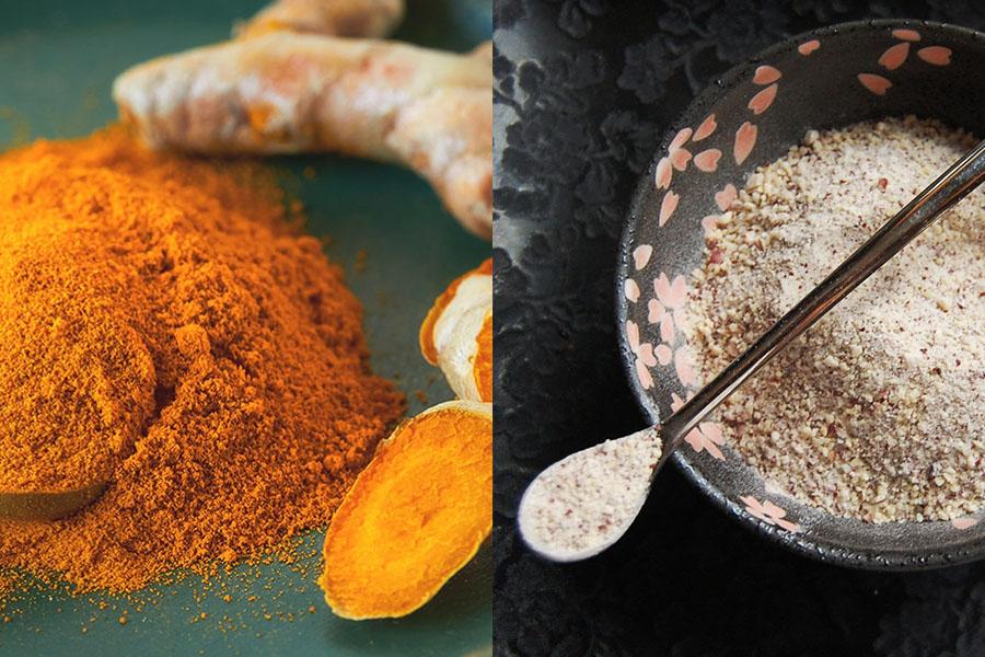 Mặt nạ đậu đỏ và bột nghệ