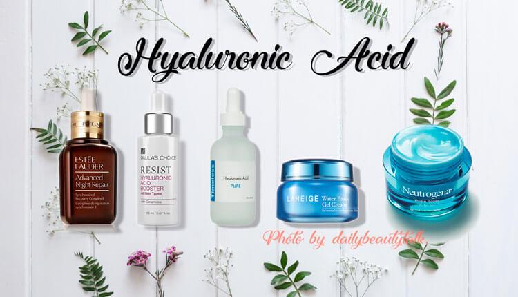 sản phẩm dưỡng ẩm có chứa Axit Hyaluronic