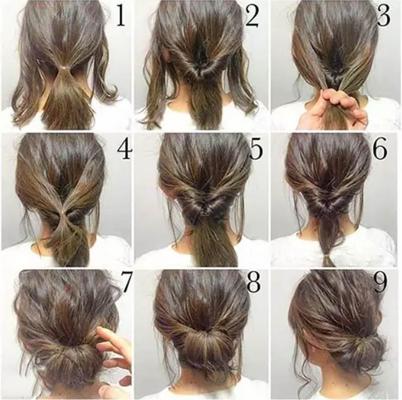 Cách tạo kiểu tóc búi rối