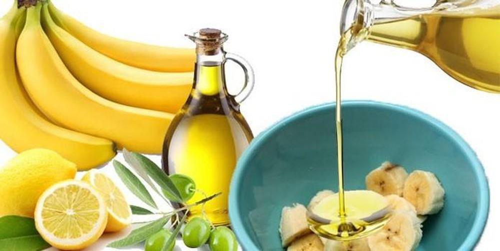 ủ tóc bằng dầu o liu và chuối
