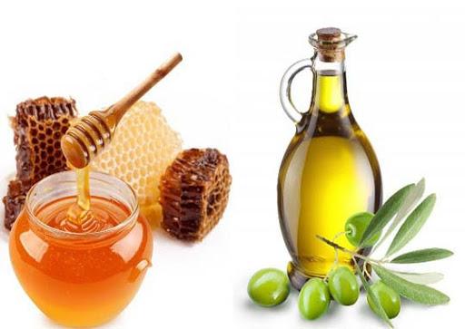 ủ tóc bằng dầu ô liu và mật ong