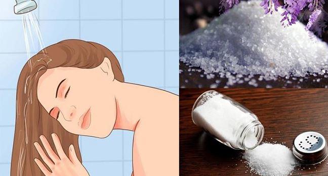Gội đầu bằng muối iot