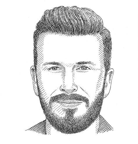 cách để râu cho người mặt dài/hình chữ nhật