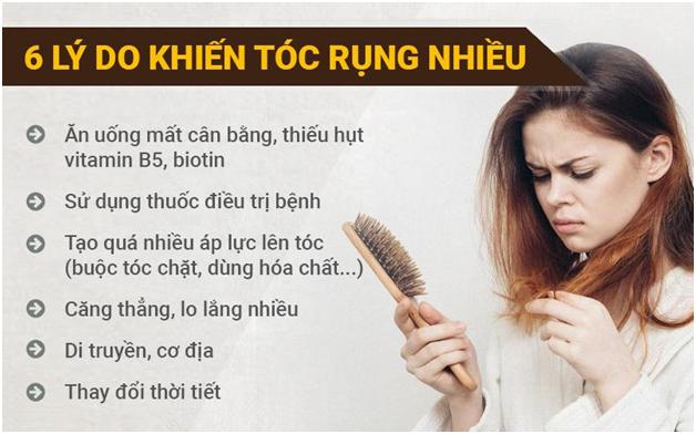 lý do khiến tóc rụng nhiều