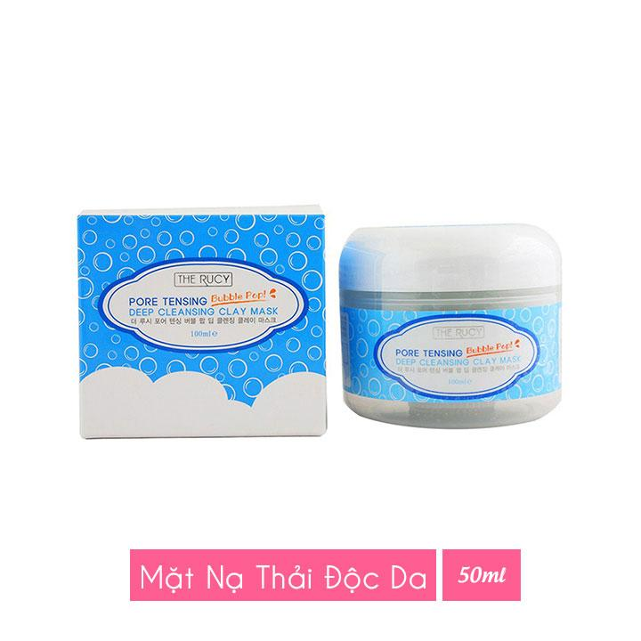 Mặt nạ sủi bọt The Rucy Pore Tensing Bubble Pop Deep Cleansing Claymask