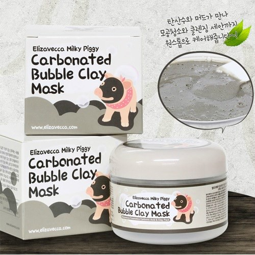 Mặt nạ sủi bọt bì heo Elizavecca Milky Piggy Carbonated Bubble Clay Mask