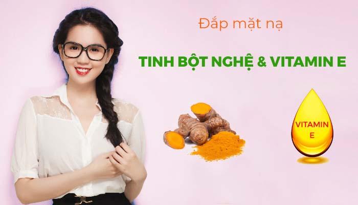 Cách làm dài mi bằng vitamin E + tinh bột nghệ