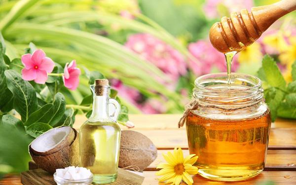 phục hồi tóc bằng mật ong và dầu dừa