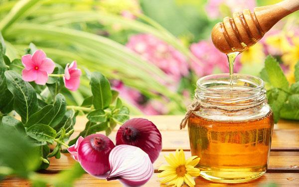 nước ép hành tây với mật ong