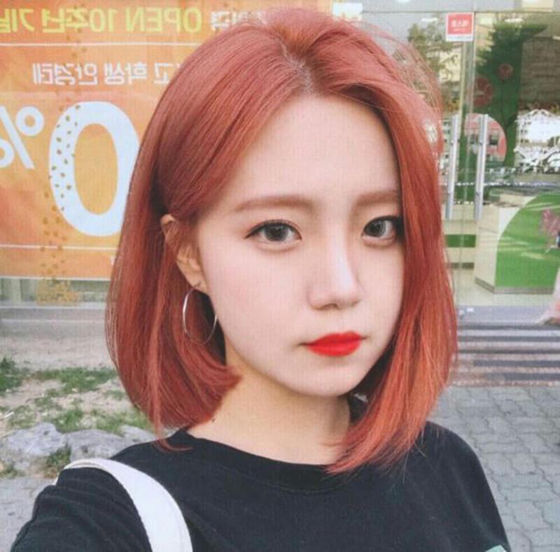 Màu tóc nâu đỏ