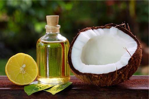 làm mềm mượt tóc bằng nước cốt dừa với chanh