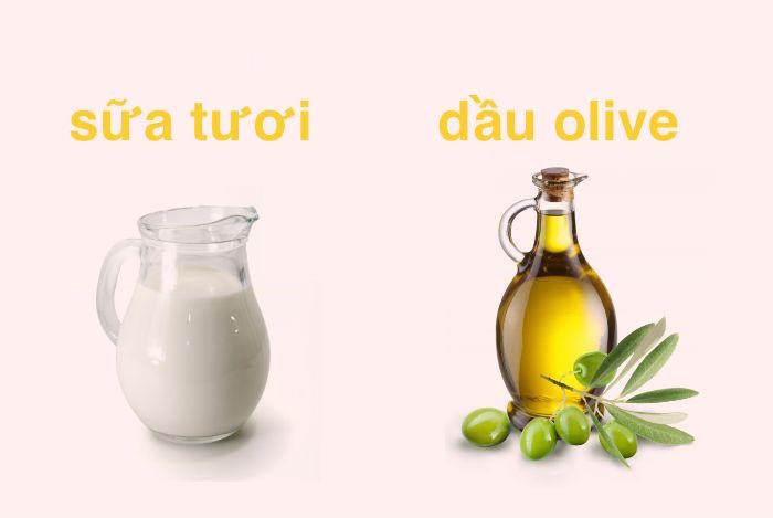 ủ tóc bằng sữa chua và dầu ô liu