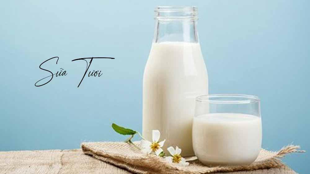 Sữa tươi giúp lông mày mọc nhanh