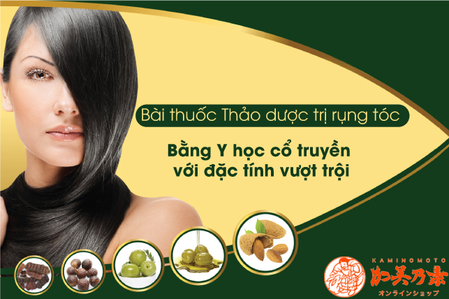 thảo dược đông y trị rụng tóc