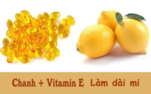 Cách làm dài mi bằng Vitamin E chanh